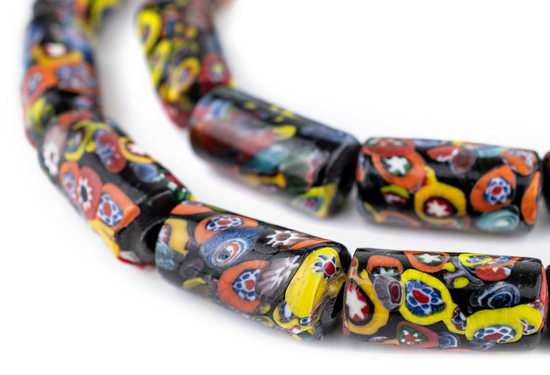 Cylindrical Millefiori Beads (26x12mm)