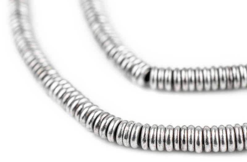 Smooth Silver Heishi Beads (5mm)