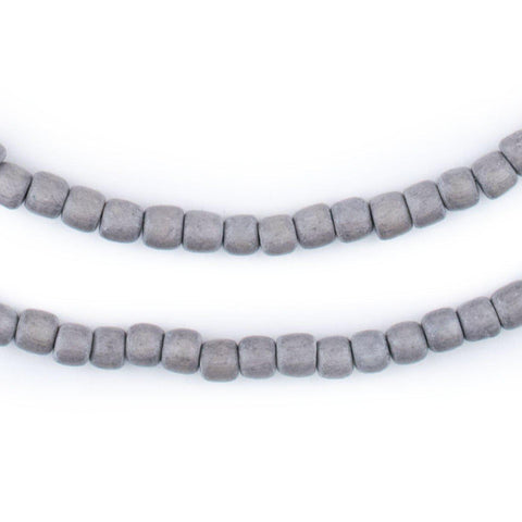 Grey Nugget Natural Wood Beads (5mm) - The Bead Chest