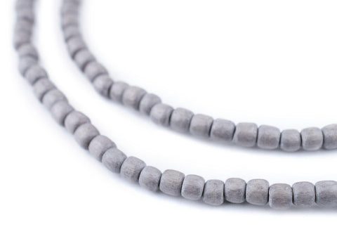 Image of Grey Nugget Natural Wood Beads (5mm) - The Bead Chest
