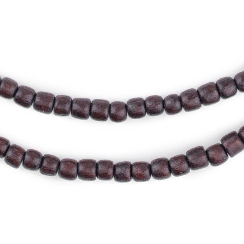 Dark Brown Nugget Natural Wood Beads (5mm) - The Bead Chest