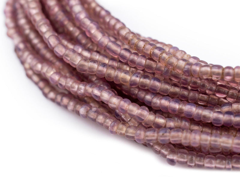 Vintage Translucent Lavender Seed Beads (3mm) - The Bead Chest