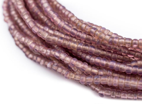 Image of Vintage Translucent Lavender Seed Beads (3mm) - The Bead Chest