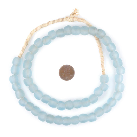 Image of Baby Blue Recycled Glass Beads (11mm) - The Bead Chest