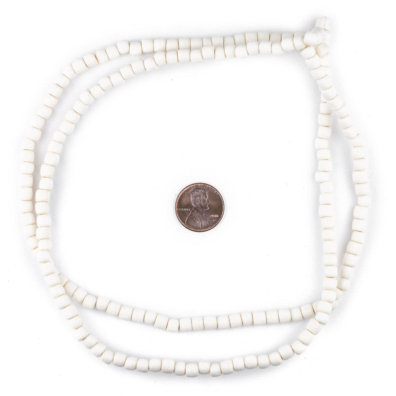 White Nugget Natural Wood Beads (5mm) - The Bead Chest