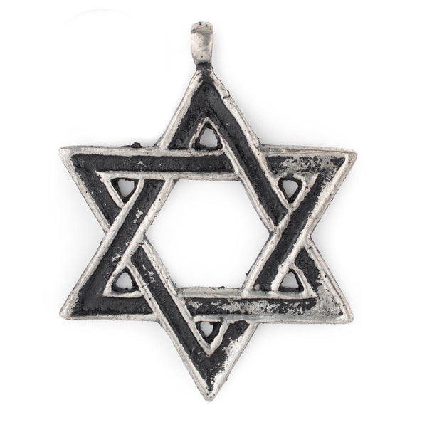 Silver Star of David Pendant (48x62mm)