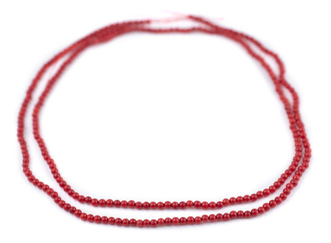 Image of Round Red Coral Beads (3mm)