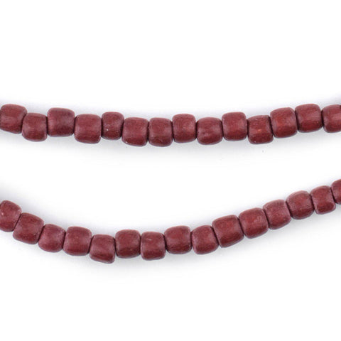 Cherry Red Nugget Natural Wood Beads (5mm) - The Bead Chest