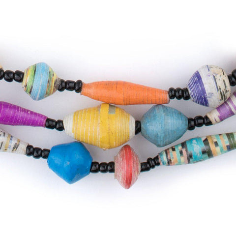 Natural Medley Recycled Paper Beads from Uganda - The Bead Chest