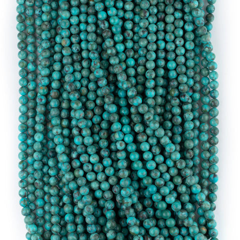 Blue Round Turquoise Beads (6mm)