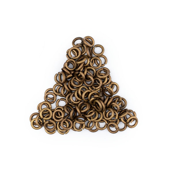 4mm Bronze Round Jump Rings (Approx 100 pieces)