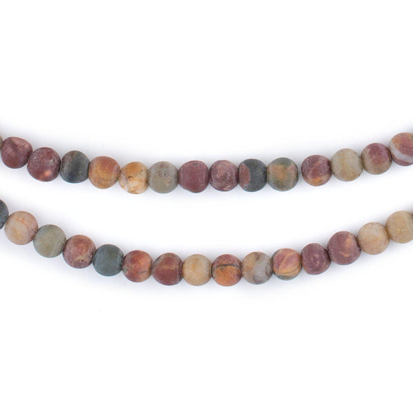 Matte Round Creek Jasper Beads (4mm)