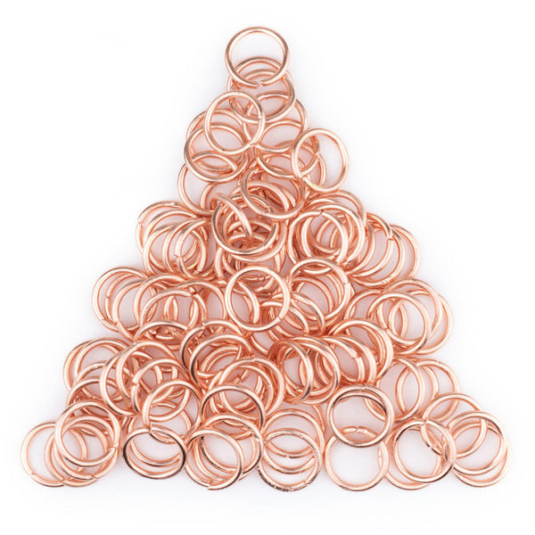 10mm Copper Round Jump Rings (Approx 100 pieces)