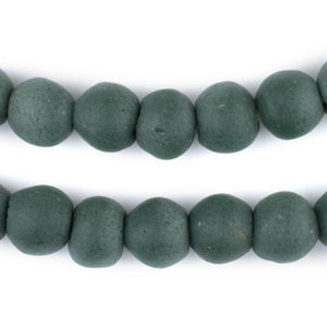 Serpentine Green Recycled Glass Beads (14mm) - The Bead Chest
