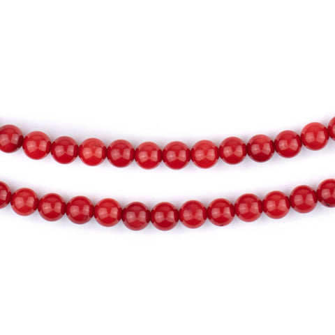 Image of Round Red Coral Beads (5mm)