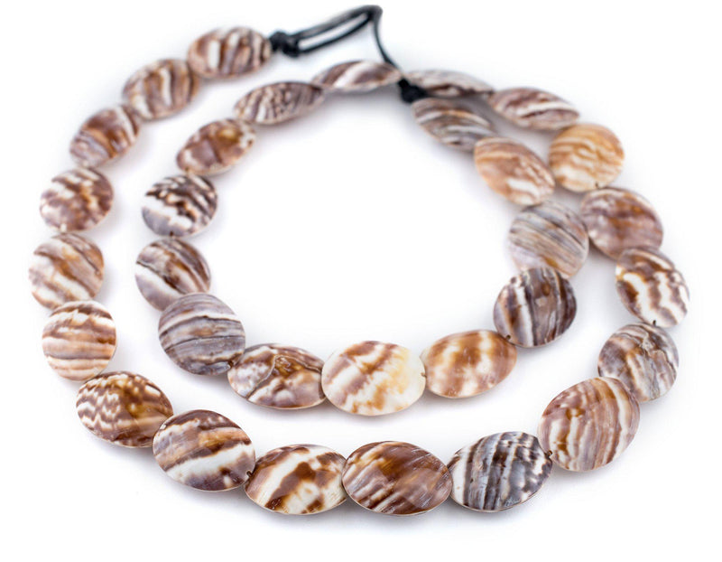 Pacific Brown Decorative Shell Beads (40 Inch Strand) - The Bead Chest