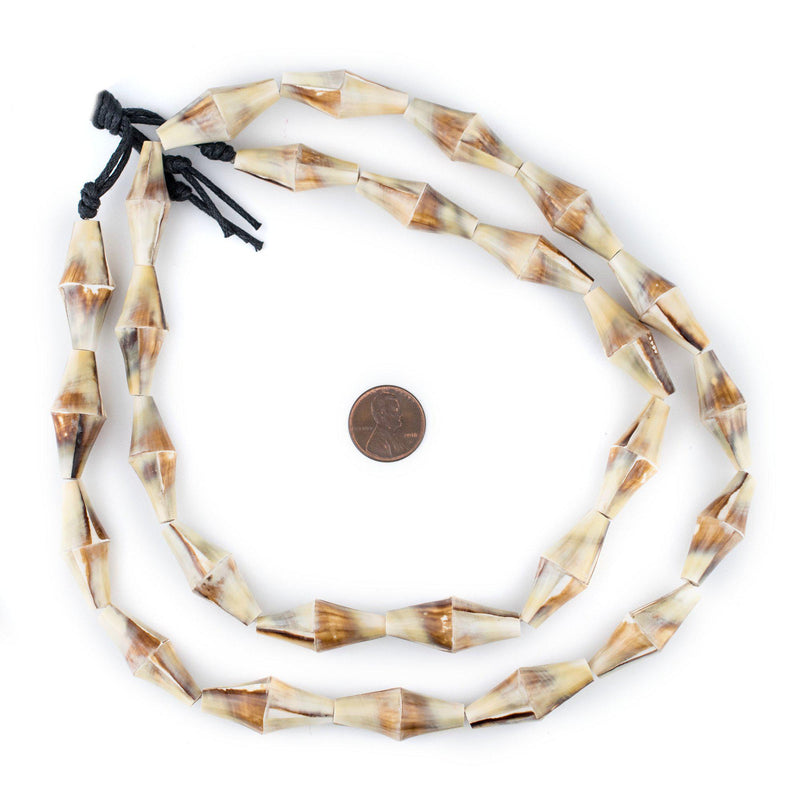 Beach Brown Decorative Shell Beads (40 Inch Strand) - The Bead Chest