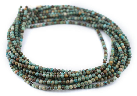 Green Round Turquoise Beads (4mm) - The Bead Chest