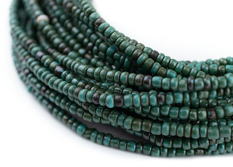 Image of Dark Turquoise Glass Seed Beads (3mm)