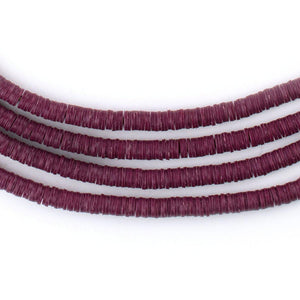 Plum Purple Vinyl Phono Record Beads (4mm) - The Bead Chest
