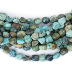 Earth Aqua Turquoise Nugget Beads (5mm)