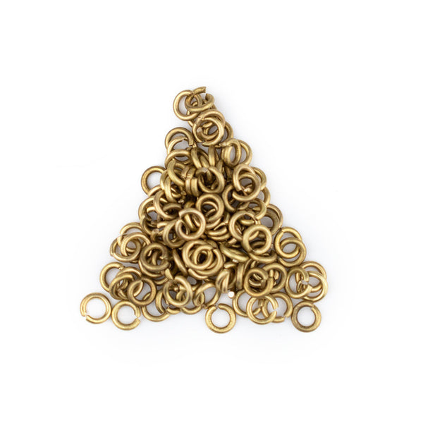 4mm Brass Round Jump Rings (Approx 100 pieces)