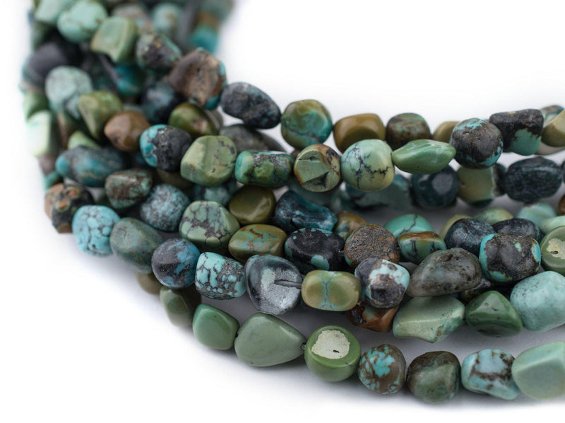 Green Turquoise Nugget Beads (5mm) - The Bead Chest