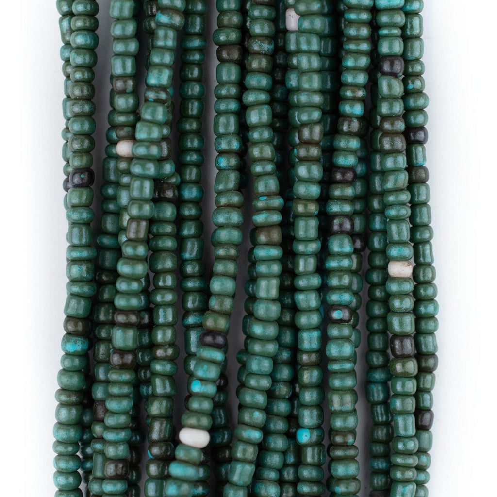 Dark Turquoise Glass Seed Beads (3mm)