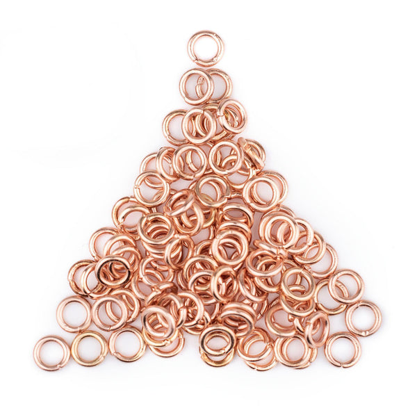 6mm Copper Round Jump Rings (Approx 100 pieces)