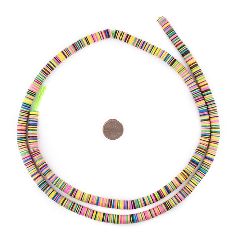 Image of Autumn Medley Vinyl Phono Record Beads (8mm) - The Bead Chest
