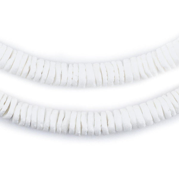 Matte White Shell Heishi Beads (8mm) - The Bead Chest