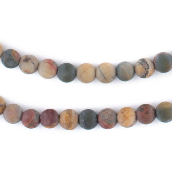Matte Round Creek Jasper Beads (6mm)