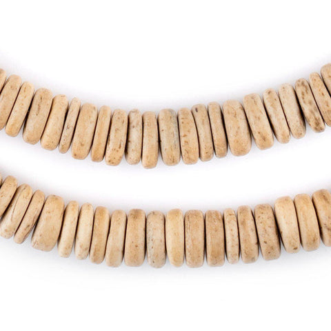 Cream Disk Coconut Shell Beads (10mm) - The Bead Chest