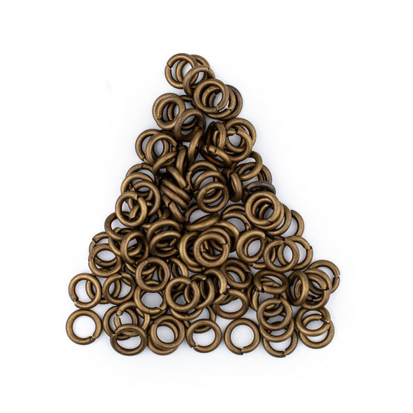 6mm Bronze Round Jump Rings (Approx 100 pieces)