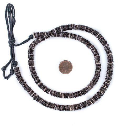 Image of Oyster Natural Shell Heishi Beads (8mm) - The Bead Chest