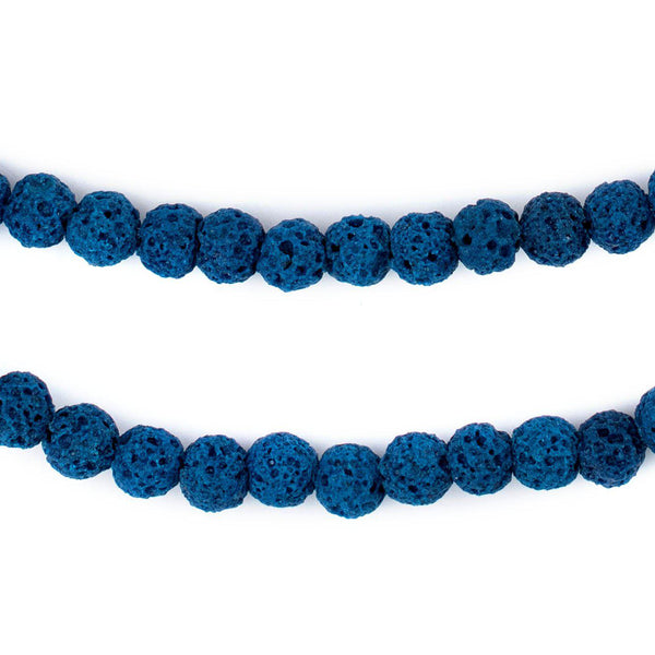 Turquoise Blue Volcanic Lava Beads (6mm)