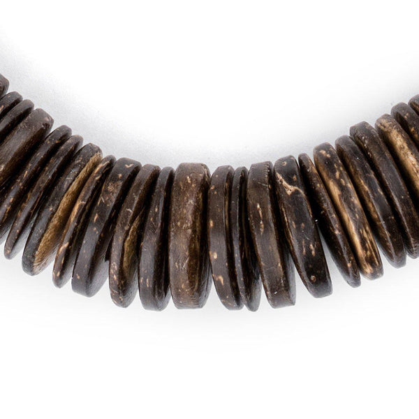 Chocolate Disk Coconut Shell Beads (20mm) - The Bead Chest
