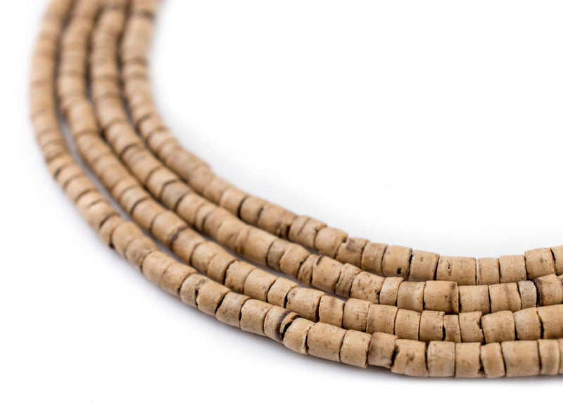 Cream Heishi Coconut Shell Beads (3-4mm) - The Bead Chest