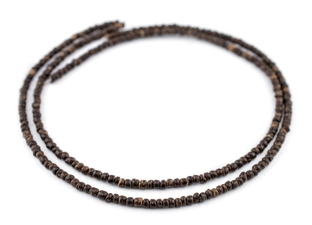 Chocolate Nugget Coconut Shell Beads (3-4mm) - The Bead Chest