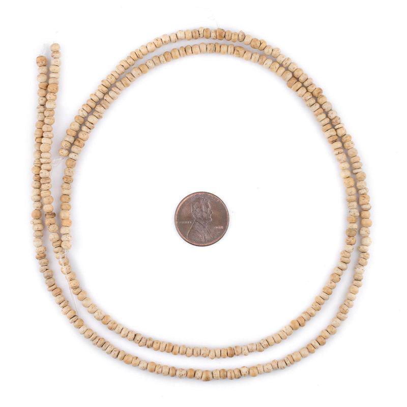 Cream Nugget Coconut Shell Beads (3-4mm) - The Bead Chest
