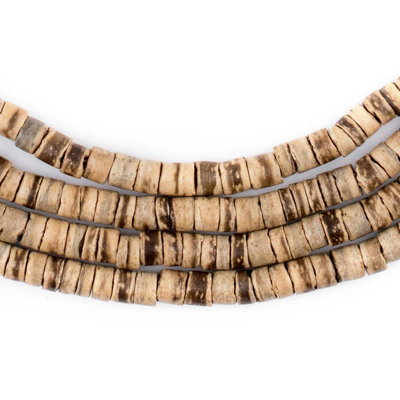 Rustic Heishi Coconut Shell Beads (5mm) - The Bead Chest