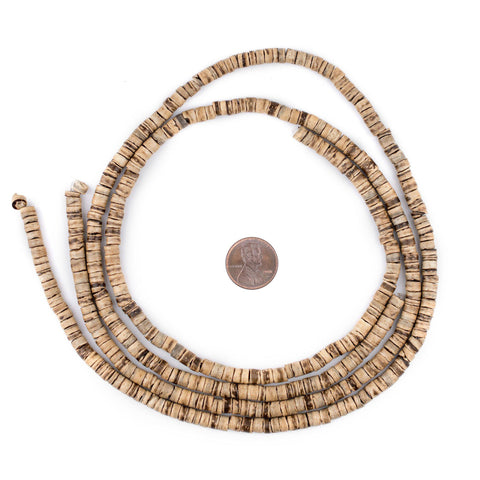 Image of Rustic Heishi Coconut Shell Beads (5mm) - The Bead Chest