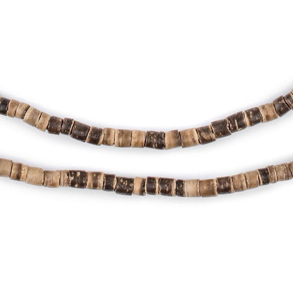 Rustic Heishi Coconut Shell Beads (3-4mm) - The Bead Chest