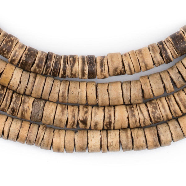 Rustic Heishi Coconut Shell Beads (8mm) - The Bead Chest