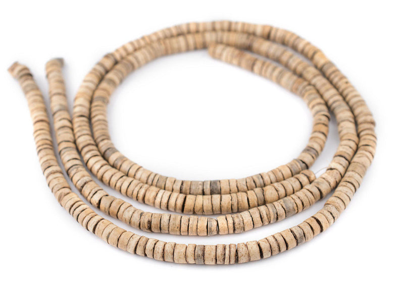 Cream Heishi Coconut Shell Beads (8mm) - The Bead Chest