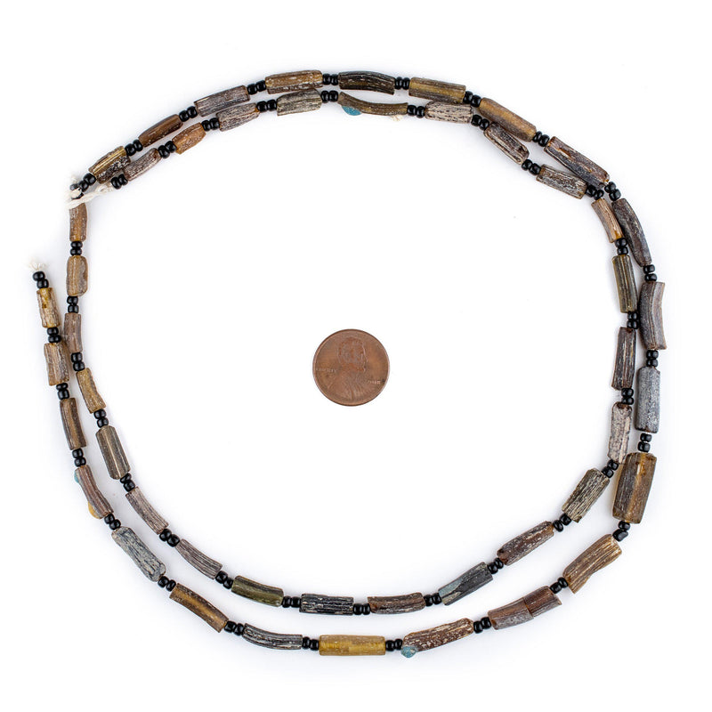 Brown Roman Glass Bangle Beads - The Bead Chest