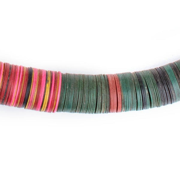 Multicolor Vintage Vinyl Phono Record Beads (14mm) - The Bead Chest