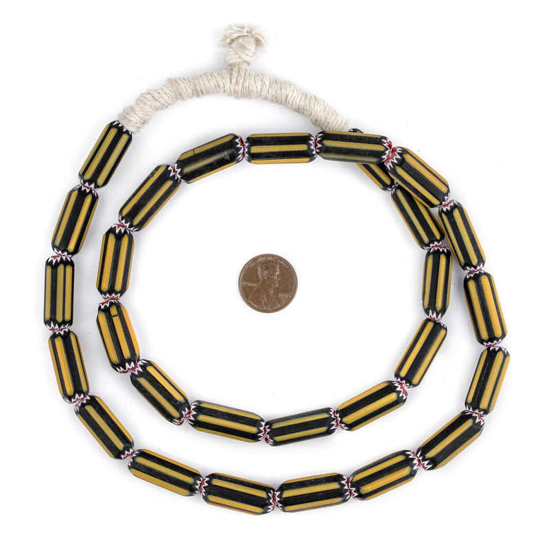 Yellow Jacket Chevron Beads - The Bead Chest
