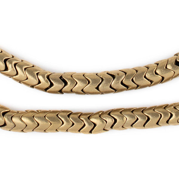 Brass Snake Beads (7mm)