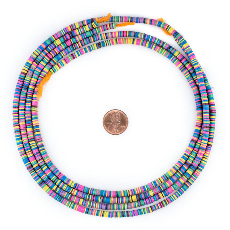 Spring Medley Vinyl Phono Record Beads (4mm) - The Bead Chest